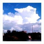 Towering cumulus clouds over Helsinki.