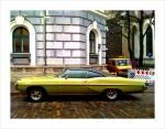 An old American car on the streets of Tallinn.
