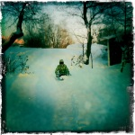 Max on his sled as we make our way out to the coast of Uunisaari.