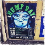 A promotional party called Hump Day with a picture of John Belushi from the movie 1941.