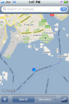 My google map has a point way off the coast of Helsinki of where I walked to.